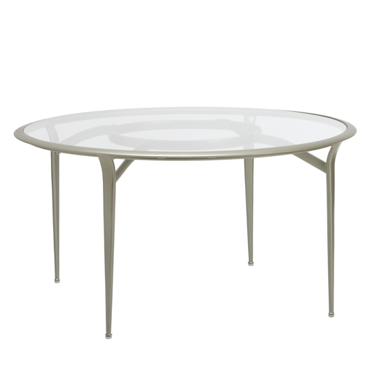 "Picture of 54"" ROUND DINING TABLE, GLASS TOP"